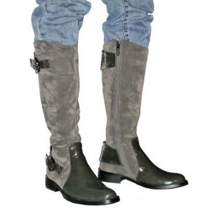 DA - Stiefel grau in Wildleder - Optik
