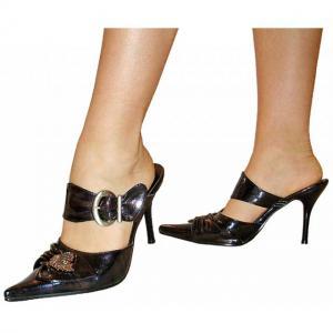 EA - Sandals in schwarz mit Zierschnal..