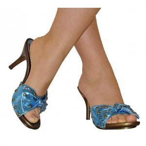 DB - Sandaletten metallic blau