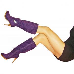 AE - Stiefel in Violett mit Plateau