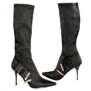 AC - Stiefel in Schwarz stretch Metall..