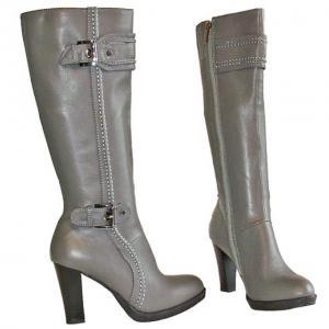DB - Stiefel Grau mit Zierschnallen