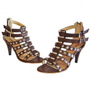 AA - Sandals braun mit Nietenverzierung
