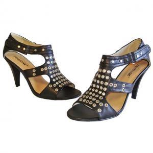 AA - Sandals schwarz mit Ösen Design