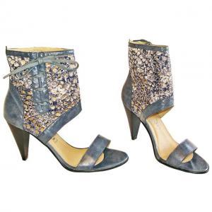 AA - Sandals Blau im Netz Design