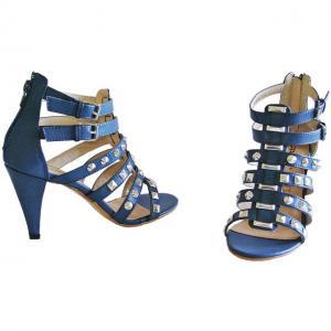 AA - Sandals Blau mit Nietenverzierung