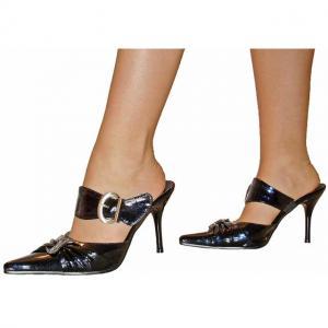 EB - Sandals in schwarz mit Zierschnal..