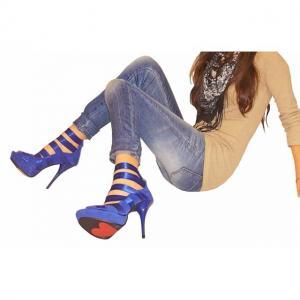 CCC - Sandals echt Leder Blau