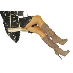 BC - Stiefel echt Leder Beige